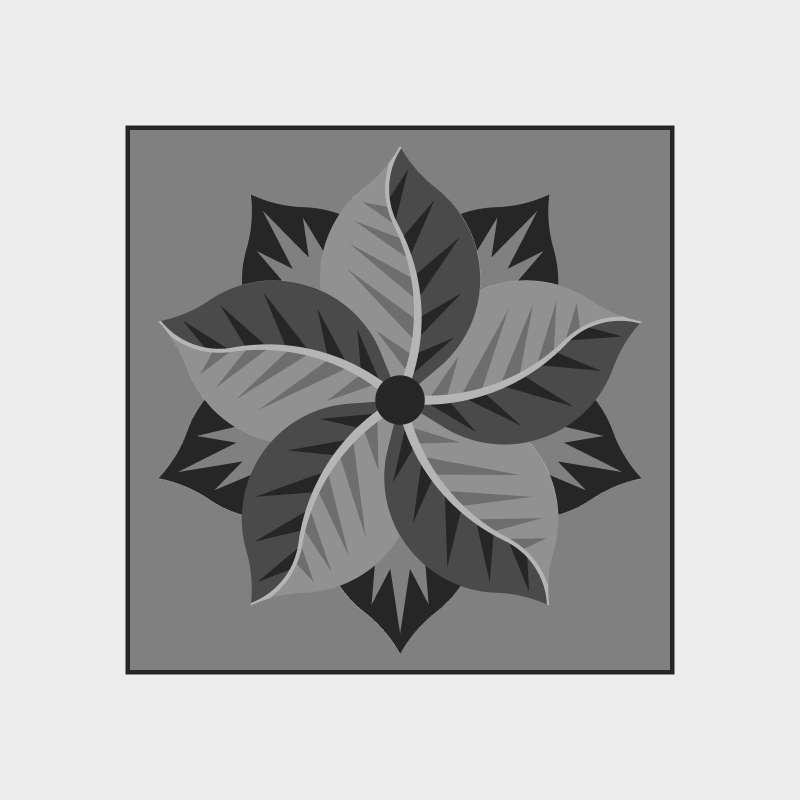Poinsettia Square Blank Template