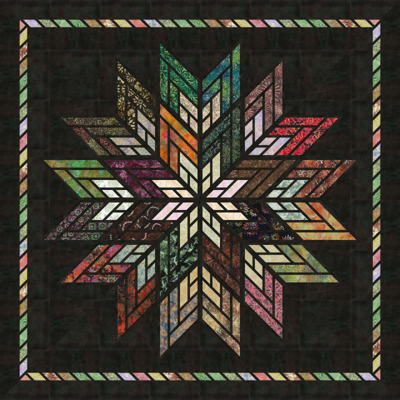 Fractured Star in Heirloom Strip Set by Timeless Treasures