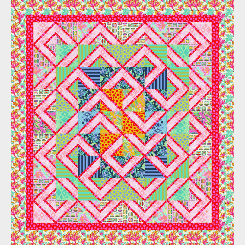 Tula Pink Labyrinth Pattern Cut Loose Press by Quiltworx