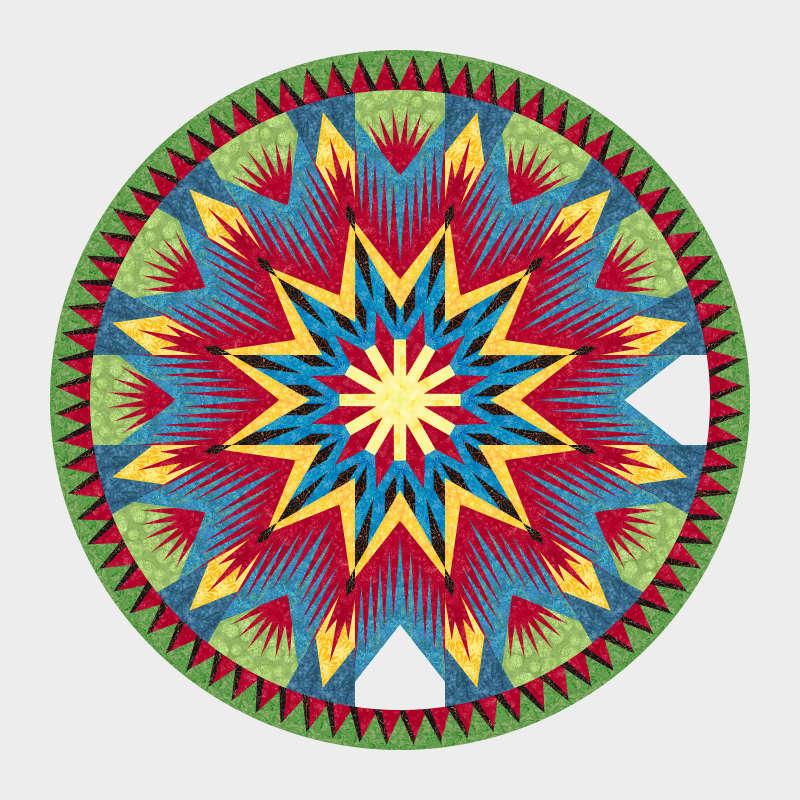 Daggered Medallion Dali Color Design2