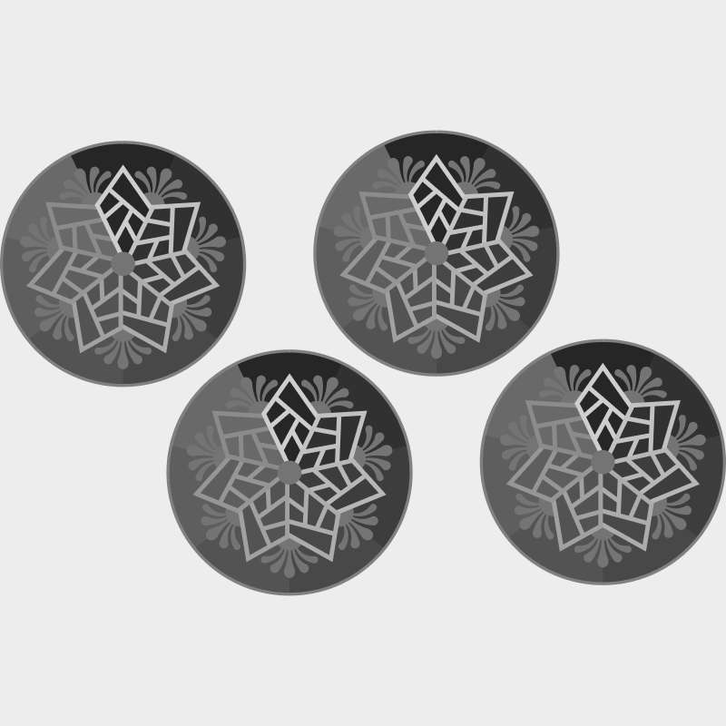 Scandinavian Snowflake 1 color applique Blank Template