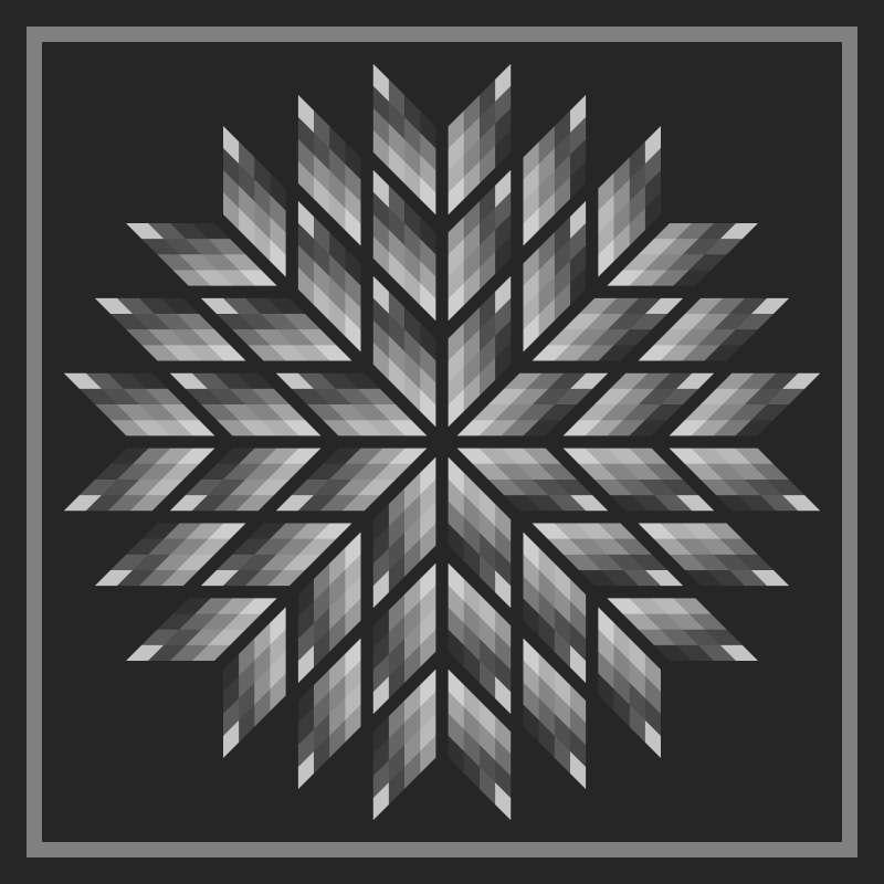 Diamonds in Bloom 100 in x 100 in Blank Template
