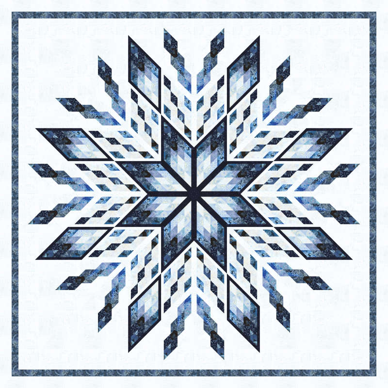 Ice Castles in Baltic Mini Collection by Timeless Treasures 100 in x 100 in