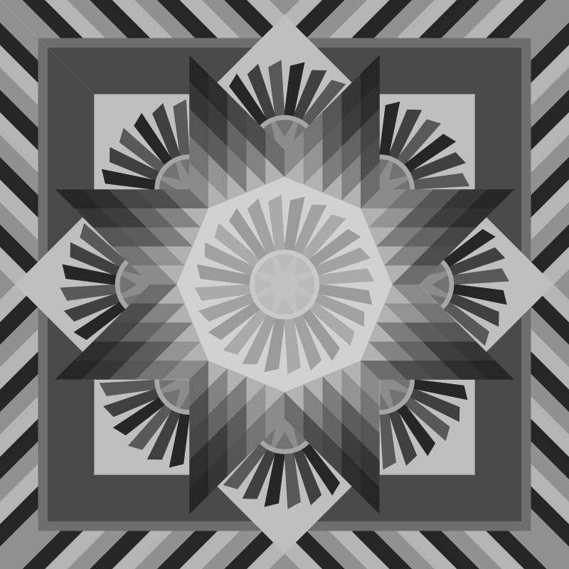 Tarnished Windmill 2018 Blank Template 60 x 60
