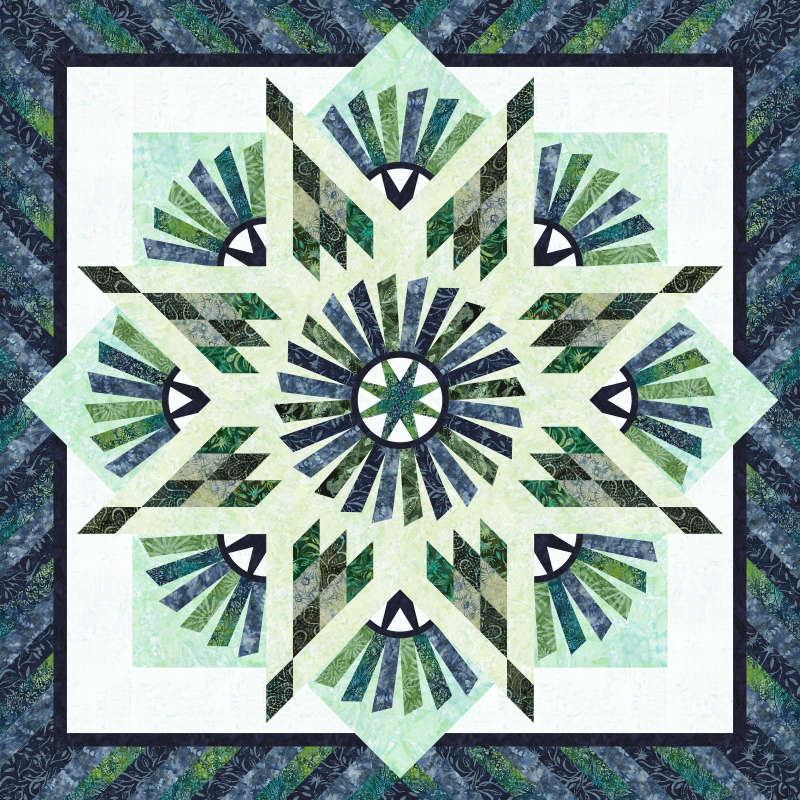 Tarnished Windmill 60 x 60 in Tonga Mini Collections  by Timeless Treasures