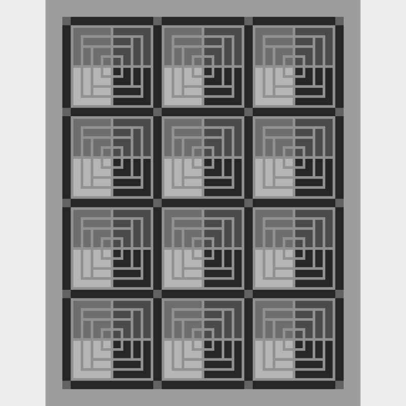 "Moroccan Courtyard 75"" x 97"" Blank Template"
