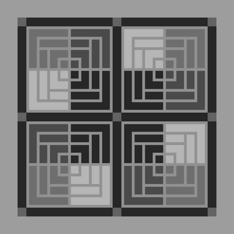 """Moroccan Courtyard Option 54"""" x 54"""" Blank Template (Pattern Makes 3)"""