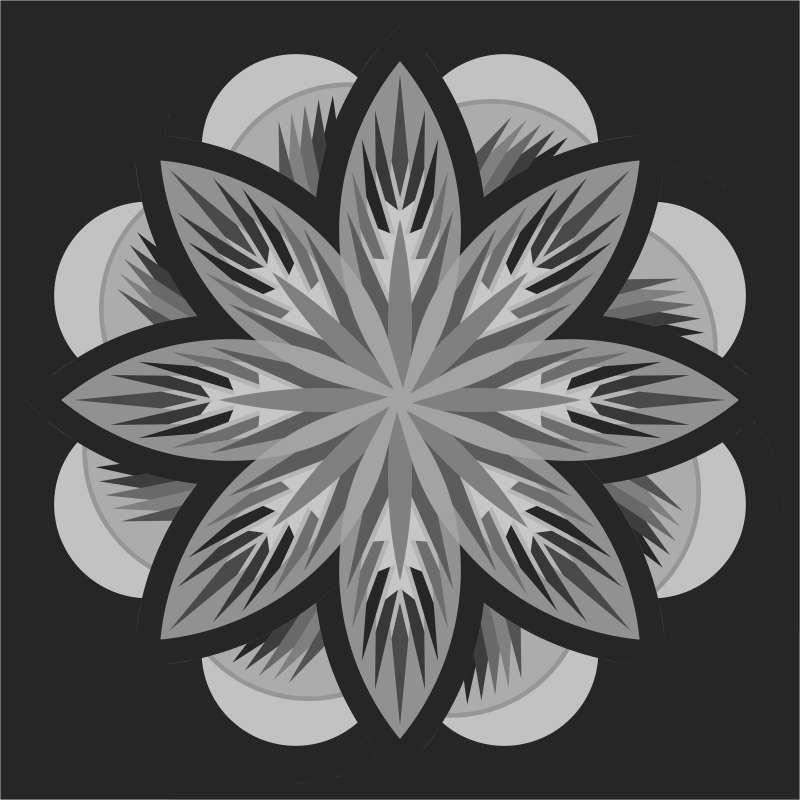 Sea Holly 65 x 65 Blank Template