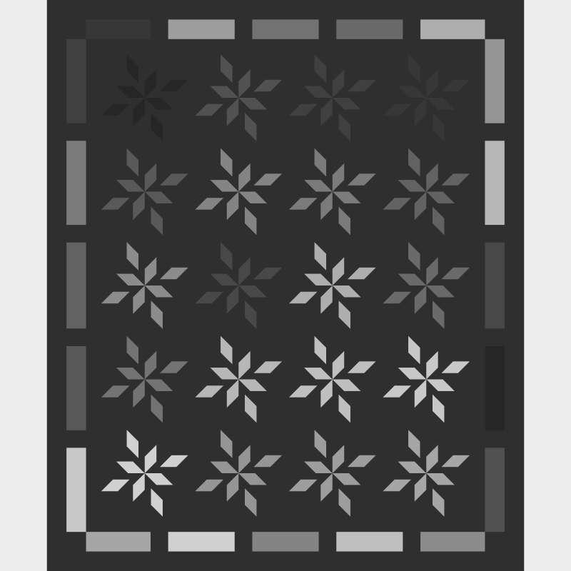 Flowering Stars 58 x 70 Blank Template