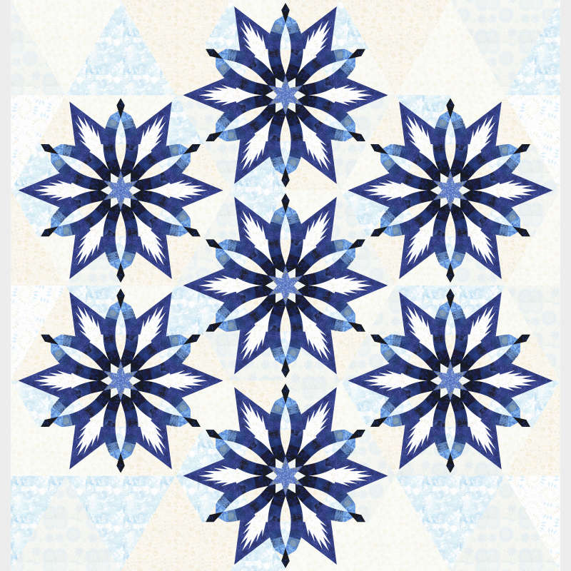 Diamond Wedding Star in Blue