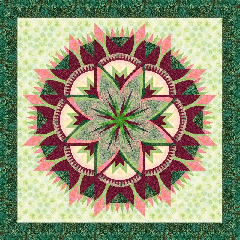 Rosebud green background