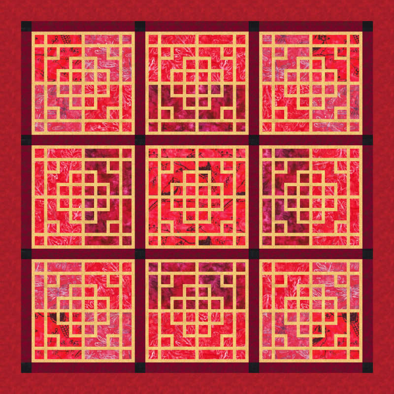 Chinese Lattice in Red