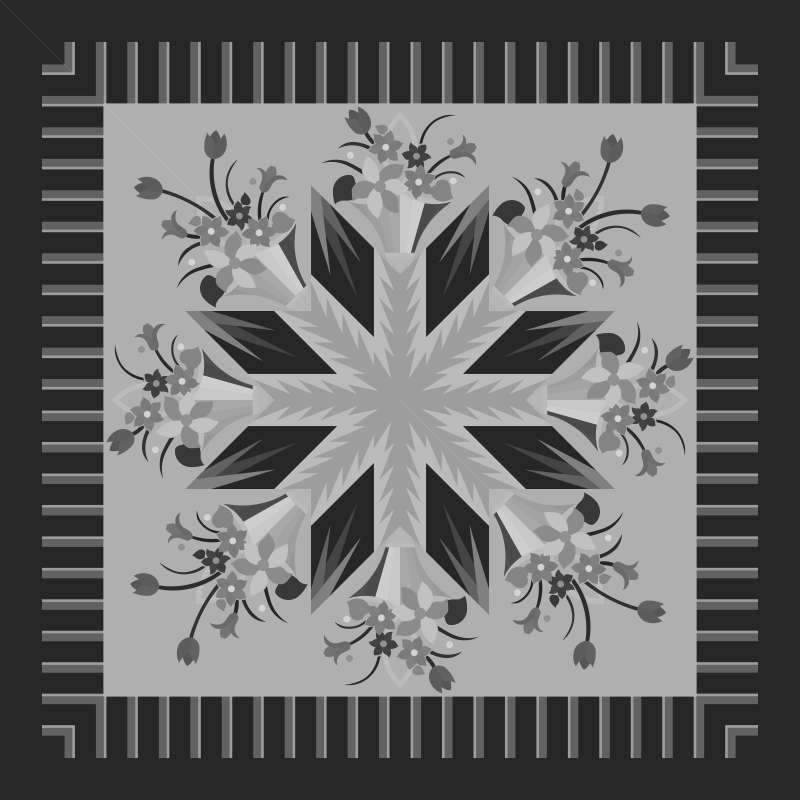 Poinsettia Bouquet Blank Template