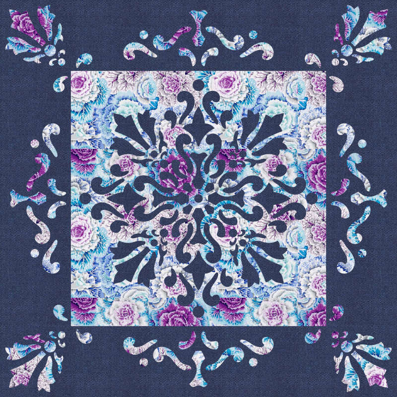 Illumination with Border in Kaffe Fassett Purple