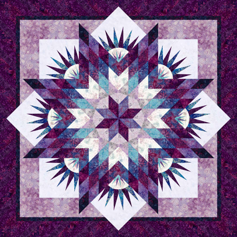 Summer Solstice in Tonga Amethyst Batiks by Timeless Treasures