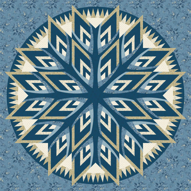 Kaleidoscope Wall Hanging in Blue Sky by Andover