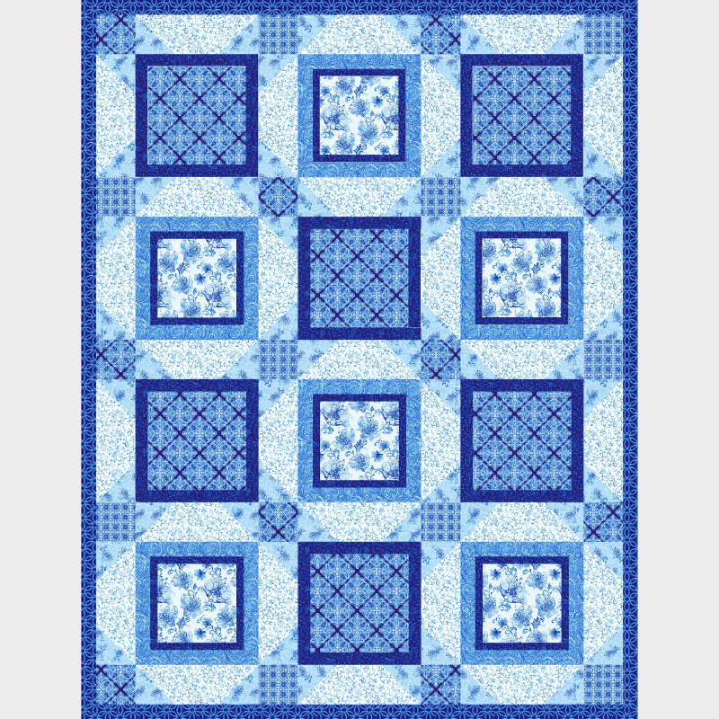 Blue Dream by Diannart for Henry Glass Fabrics