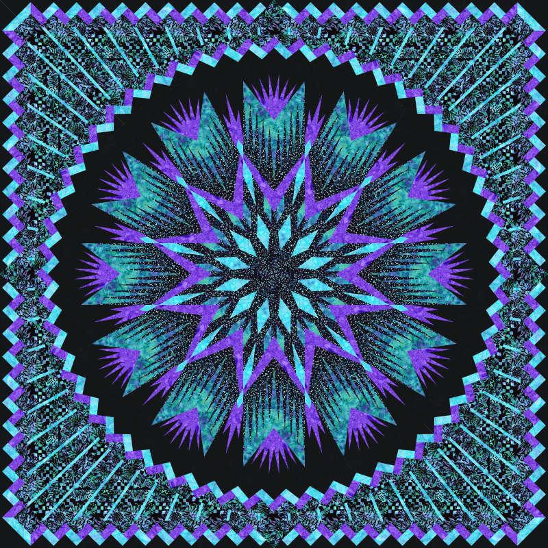 Anemone 80 in x 80 in  Batik Textiles