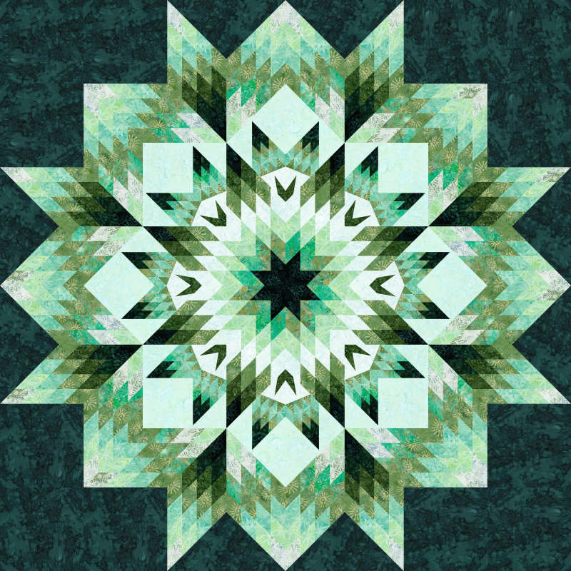 Starry NIght Wall in Emerald Mini Collection Timeless Treasures