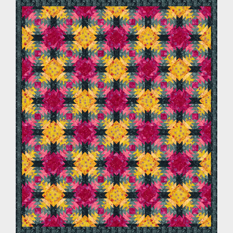 Pineapple Express 63 x 73 in Feline Fine collection