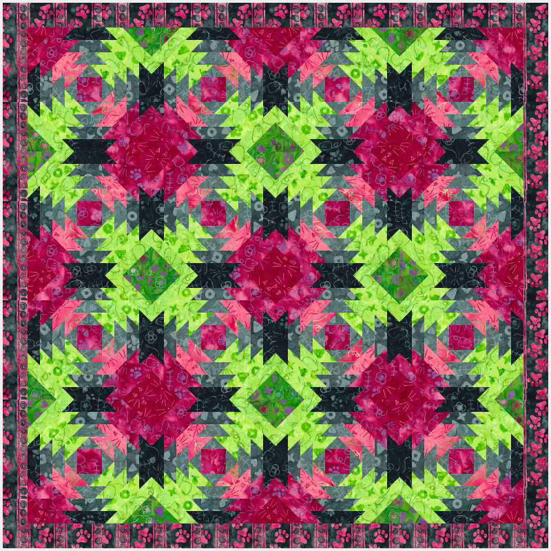 Pineapple Express 43 x 43 in Feline Fine collection