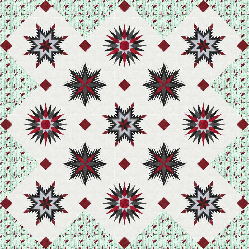 Snowflake  Black and Red