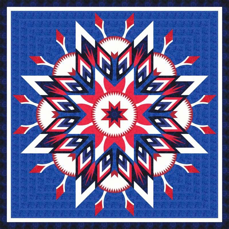 Amethyst Queen Patriot Star light