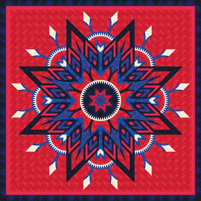 Amethyst Queen Patriot Star Red
