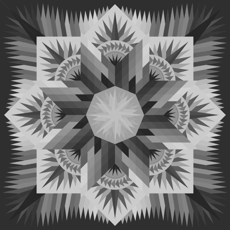 Prairie Star Blank Layout 85 in x 85 in