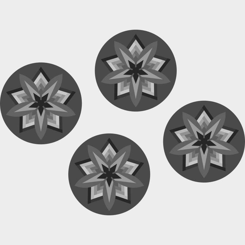 Four Rustic Mountain Snowflake Blank Template 20 in diameter each