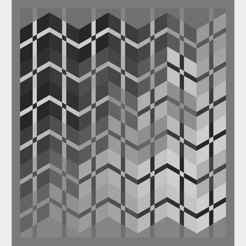 Triple Divide Modern Layout 53 in x 59 in Blank Template
