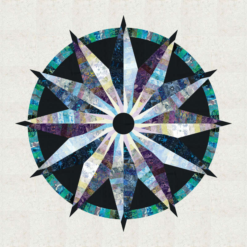 Sundial in Gypsy Strips