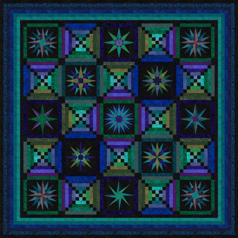 Moon Glow Quilt in Jinny Beyer Palette from RJR Fabrics