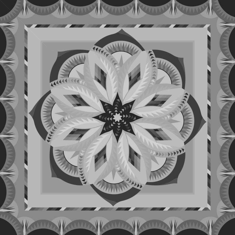 Blank Vintage Rose Queen 99 in x 99 in Blank Template