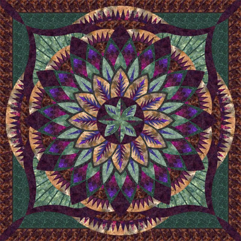 Dark blooms dahlia