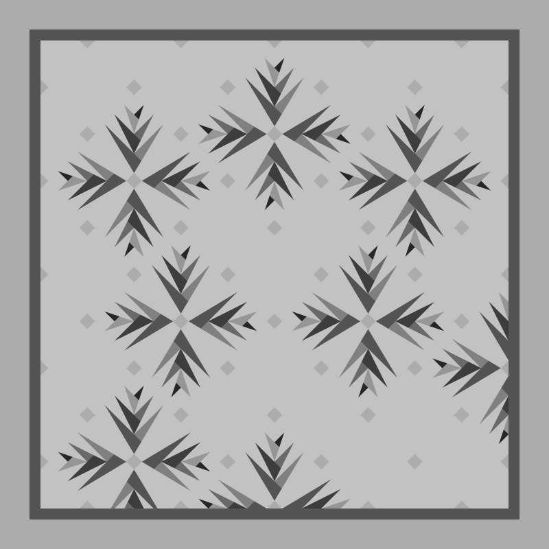 Cactus in Bloom Blank Template