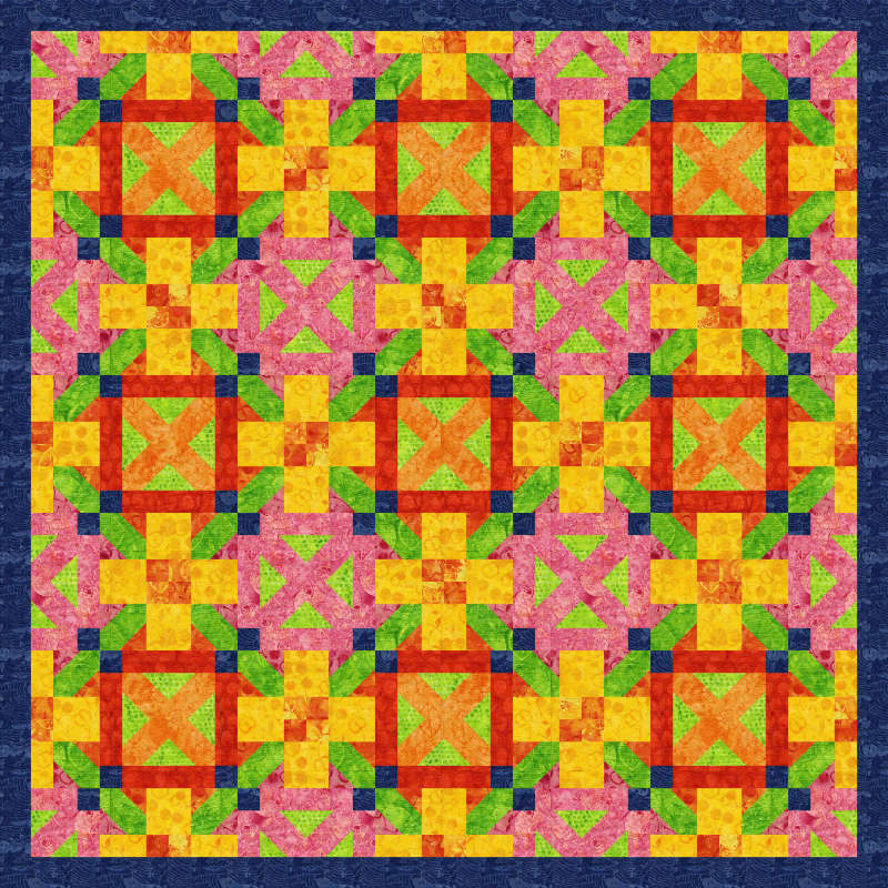 Geometrics 65x65 in Fresh Pickins