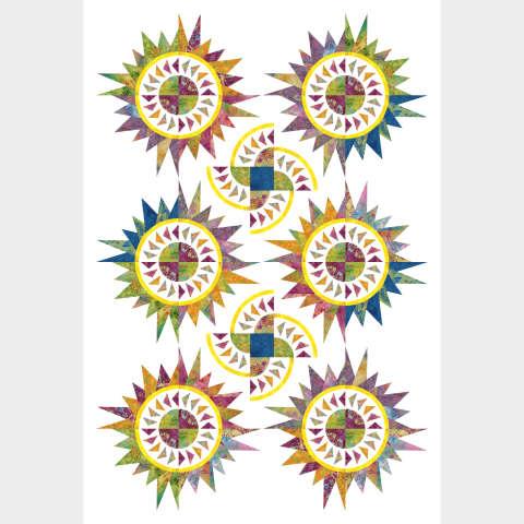 Butterfly Baby • 44x66 Batik Textiles- Color Me Happy