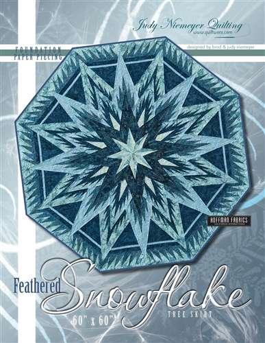 "Feathered Snowflake Tree Skirt 60"" Octagon"