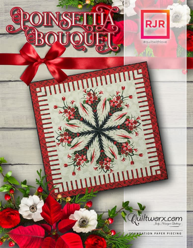 Poinsettia Bouquet with Queen Border