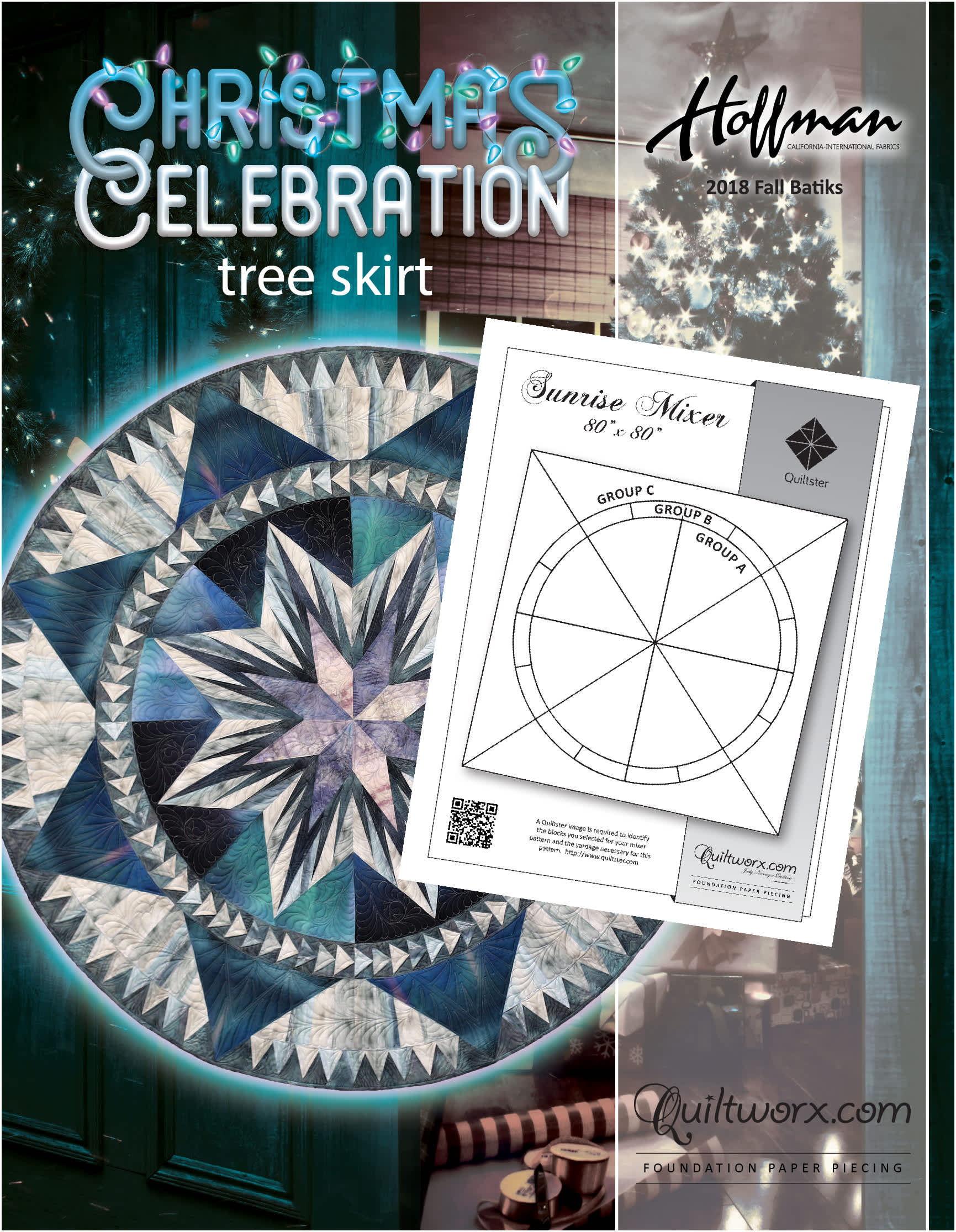 Christmas Celebration Tree Skirt 2019 Expansion or Square Up Design