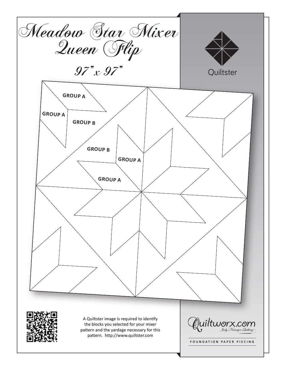 Meadow Star Queen Flip Mixer Pattern