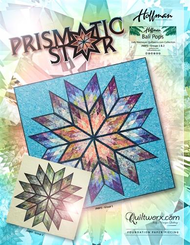 "Prismatic Star - 64"" x 64"""