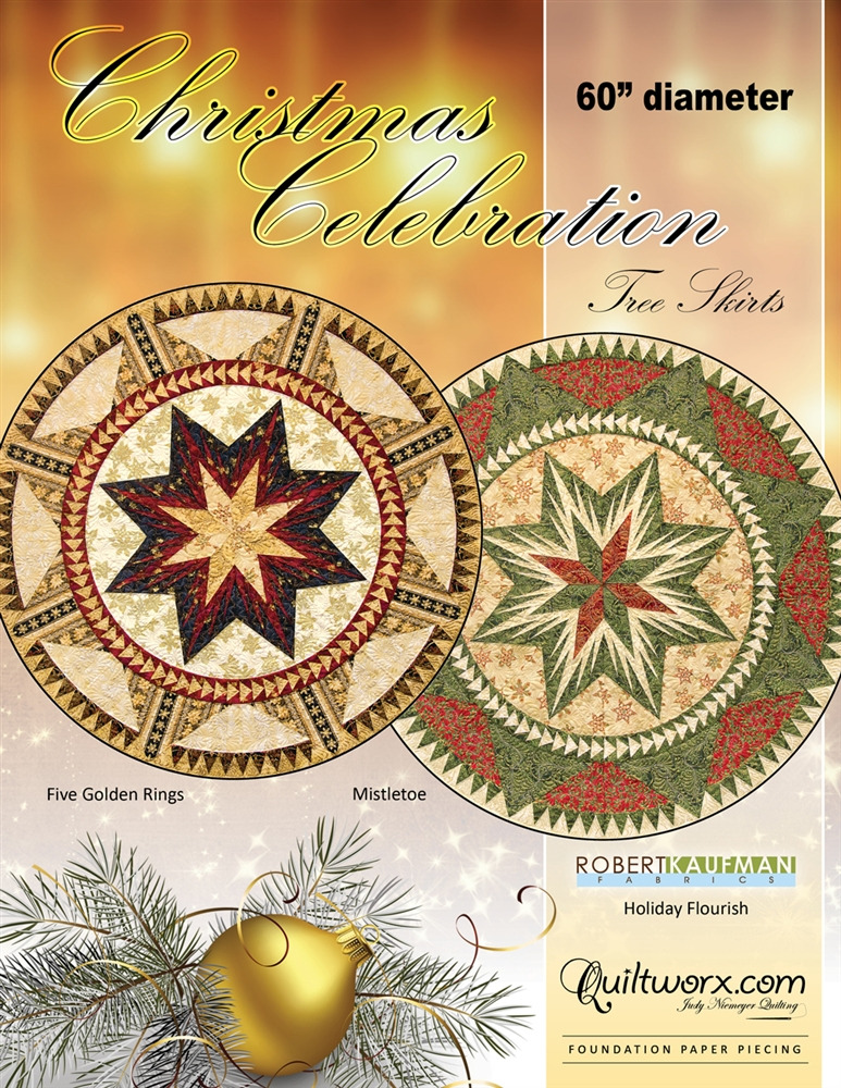 """Christmas Celebration Tree Skirt 60"""" Diameter"""