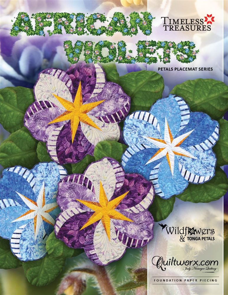 "African Violets 18"" Diameter"
