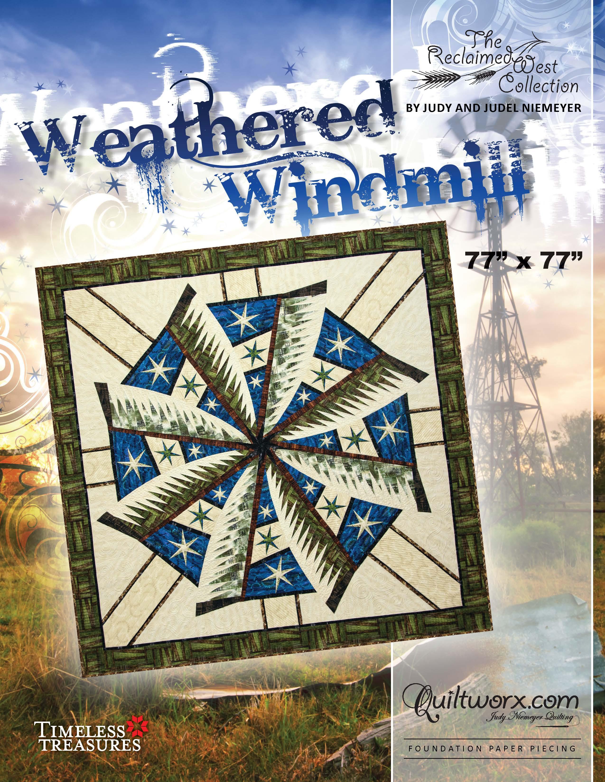 """Weathered Windmill - 77"""" x 77"""""""