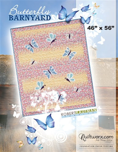 "Butterfly Barnyard 46"" x  56"""