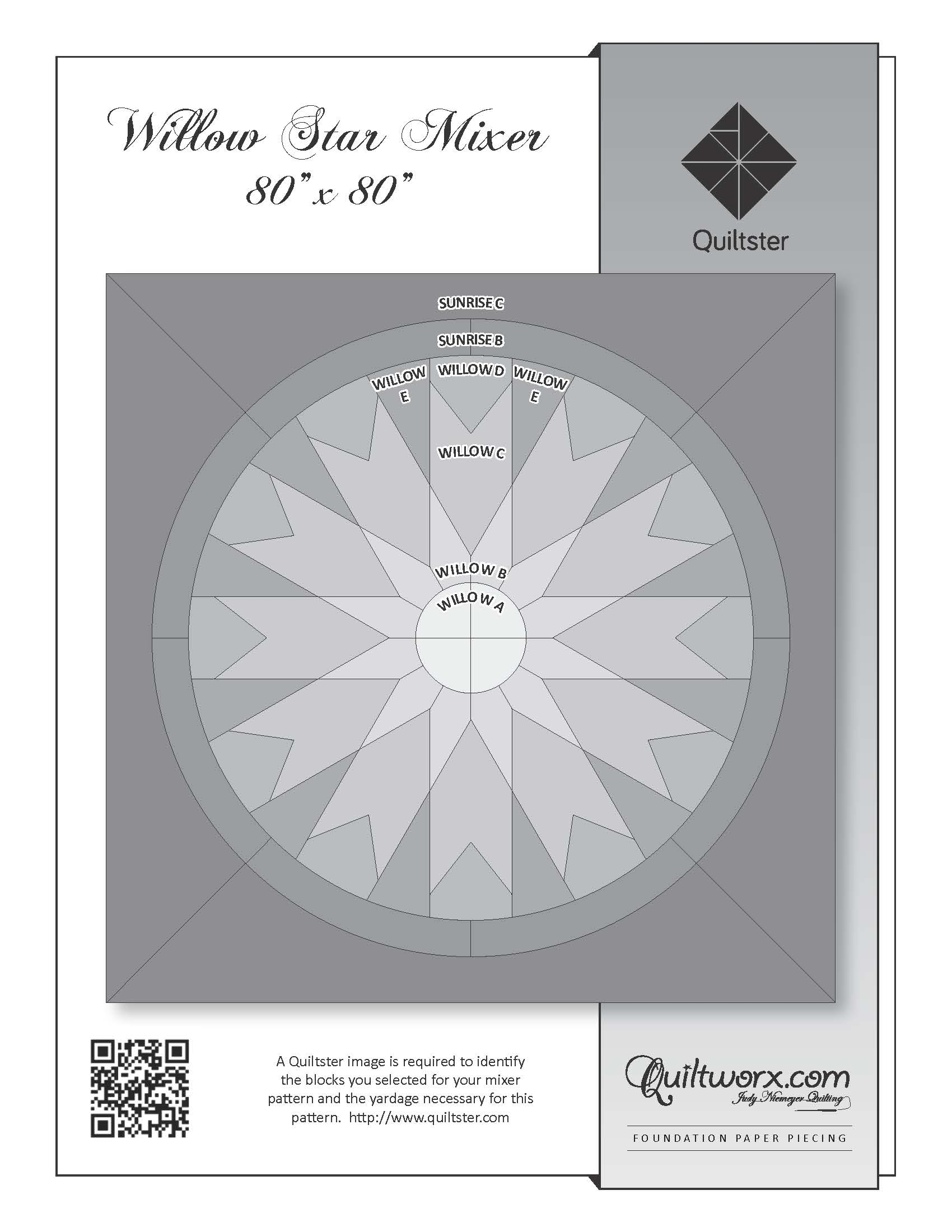 "Willow Star Mixer - 80"" x 80"""