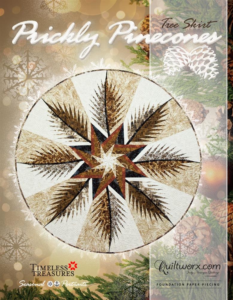 "Prickly Pinecones Tree Skirt 60"" Diameter"