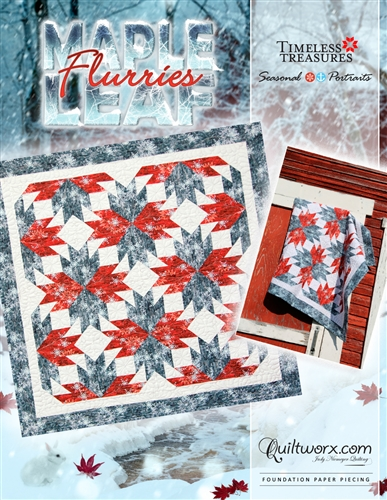 """Maple Leaf Flurries - 42"""" x 42"""""""